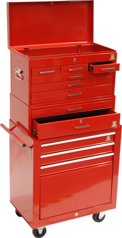RED HEAVY DUTY TOOLBOX - ROLL CAB - TBR2003