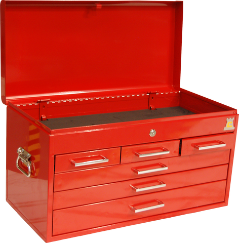 RED HEAVY DUTY TOOLBOX - TOPBOX - TBT2006 - Chester Machine Tools