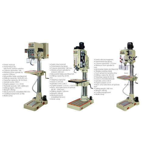 UD SERIES UNIPRIZE COLUMN DRILLING MACHINES - Chester Machine Tools