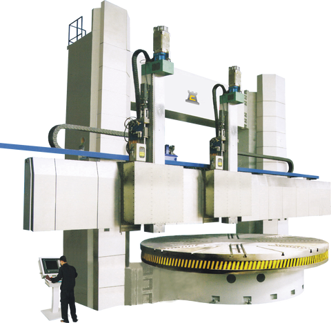 VBD SERIES CHESTER CNC DOUBLE COLUMN VERTICAL BORING MACHINES - Chester Machine Tools