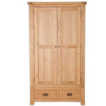 Natural Oak 2 Door Wardrobe
