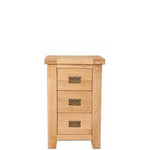 The Furniture House 3 drawer bedside cabinet Natural Oak 3 Drawer Bedside Table