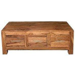 Mango Wood 3 Drawer Coffee Table