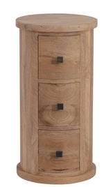 The Furniture House Chest of Drawers Neptune 3 Drawer Round Chest