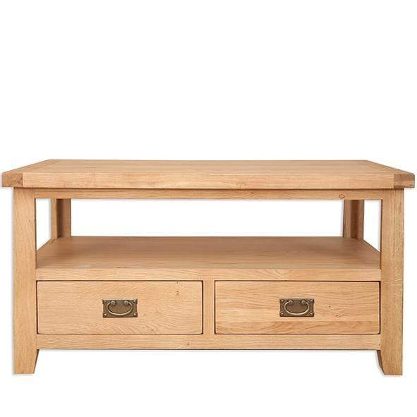 The Furniture House Coffee/T.V table Natural Oak Coffee Table with 2 Drawers