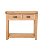 The Furniture House console table Natural Oak Console Table with 2 Drawers