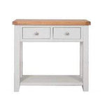 The Furniture House console table Rustic Grey Console Table with 2 Drawers