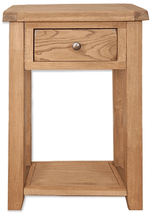 The Furniture House console table Rustic Oak Console Table with 1 Drawer