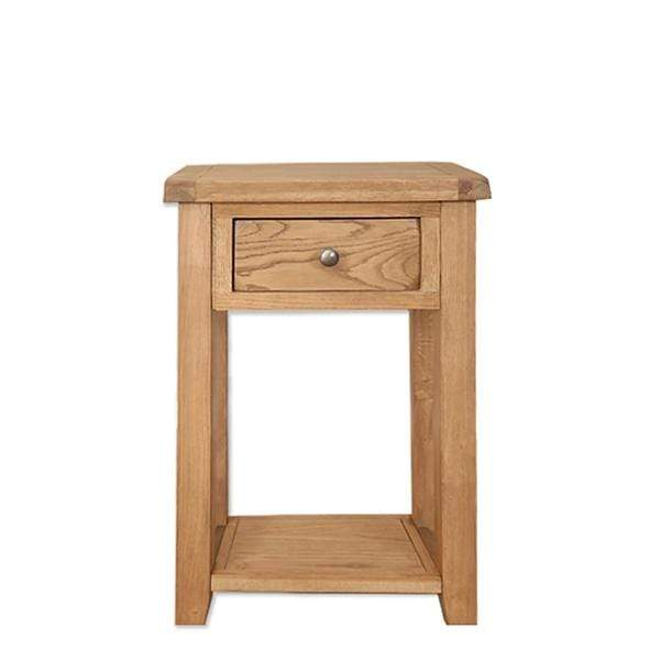 Rustic Oak Console Table with 1 Drawer