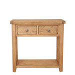 Rustic Oak Console Table with 2 Drawers