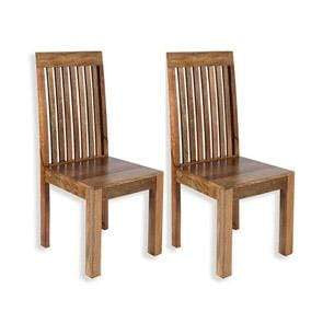 The Furniture House dining chair Pair of Mango Wood Dining Chairs