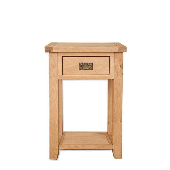 Natural Oak Console Table with 1 Drawer