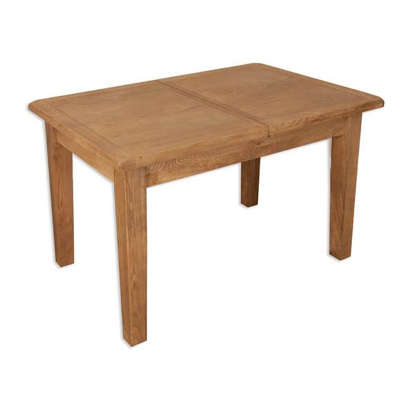 Rustic Oak Extending Dining Table - 1.2m/1.6m