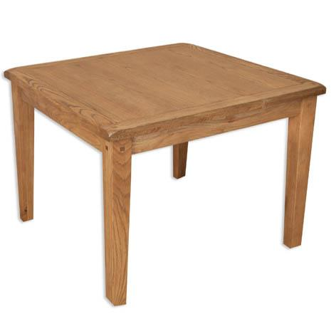 Rustic Oak Square Dining Table - 90cm