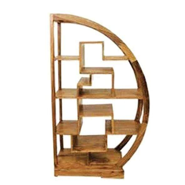 Mango Wood D Shape Display Unit