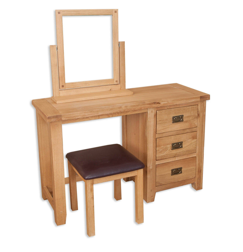 Rustic Oak Dressing table (table only)