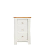 Ivory Charm 3 Drawer Bedside Table