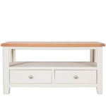 Ivory Charm Coffee Table with 2 Drawers