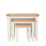 The Furniture House Ivory Charm Nest of 3 Tables Ivory Charm Nest of Tables