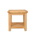 The Furniture House lamp table Natural Oak Lamp Table