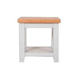 The Furniture House lamp table Rustic Grey Lamp Table