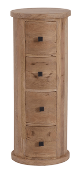 The Furniture House Neptune 4 Drawer Round Chest