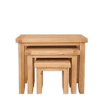 The Furniture House nest of tables Natural Oak Nest of Tables