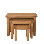 The Furniture House nest of tables Rustic Oak Nest of Tables