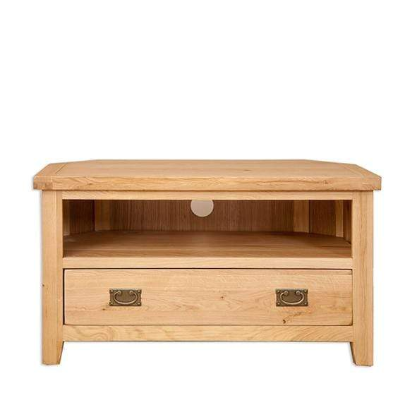 The Furniture House Tv Unit Natural Oak Corner TV Unit