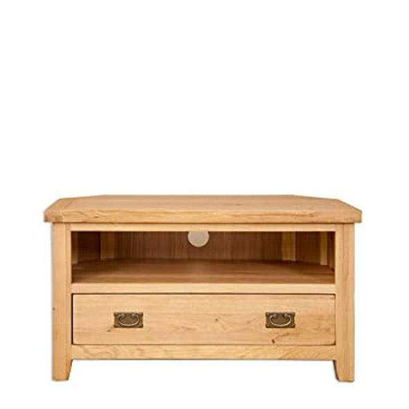 Natural Oak Corner TV Unit