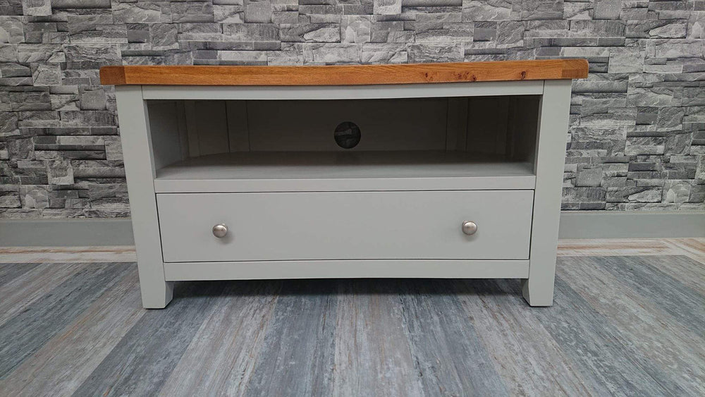 The Furniture House Tv Unit Rustic Grey Corner Tv Unit