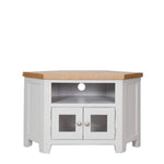Rustic Grey Glazed Corner Tv Unit