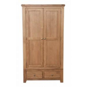 The Furniture House Wardrobe Rustic Oak 2 Door Wardrobe