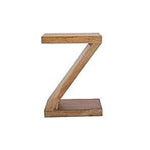 Mango Wood Z Side Table