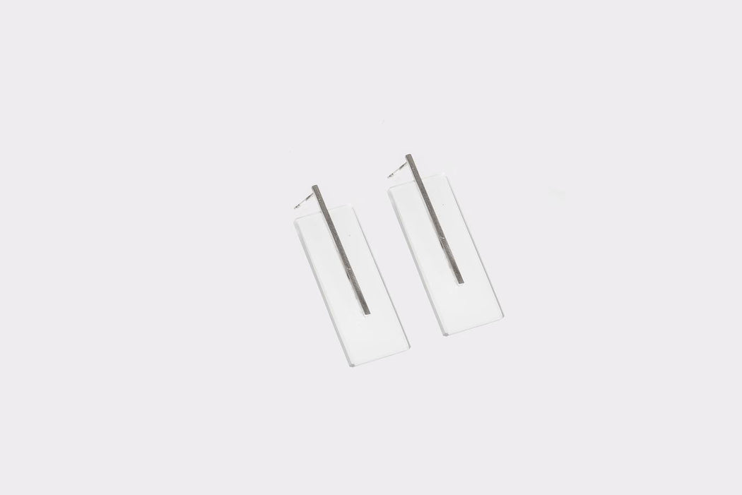 F R A G I L E rectangle earrings