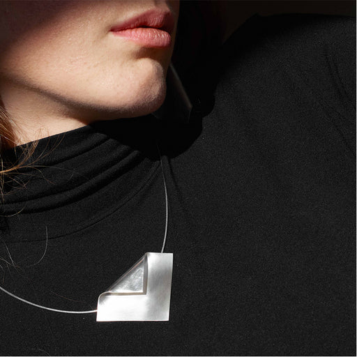 imperfect square necklace