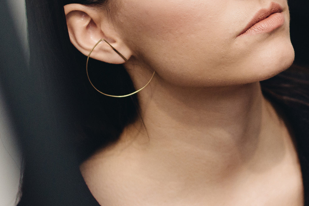 imperfect circle earrings
