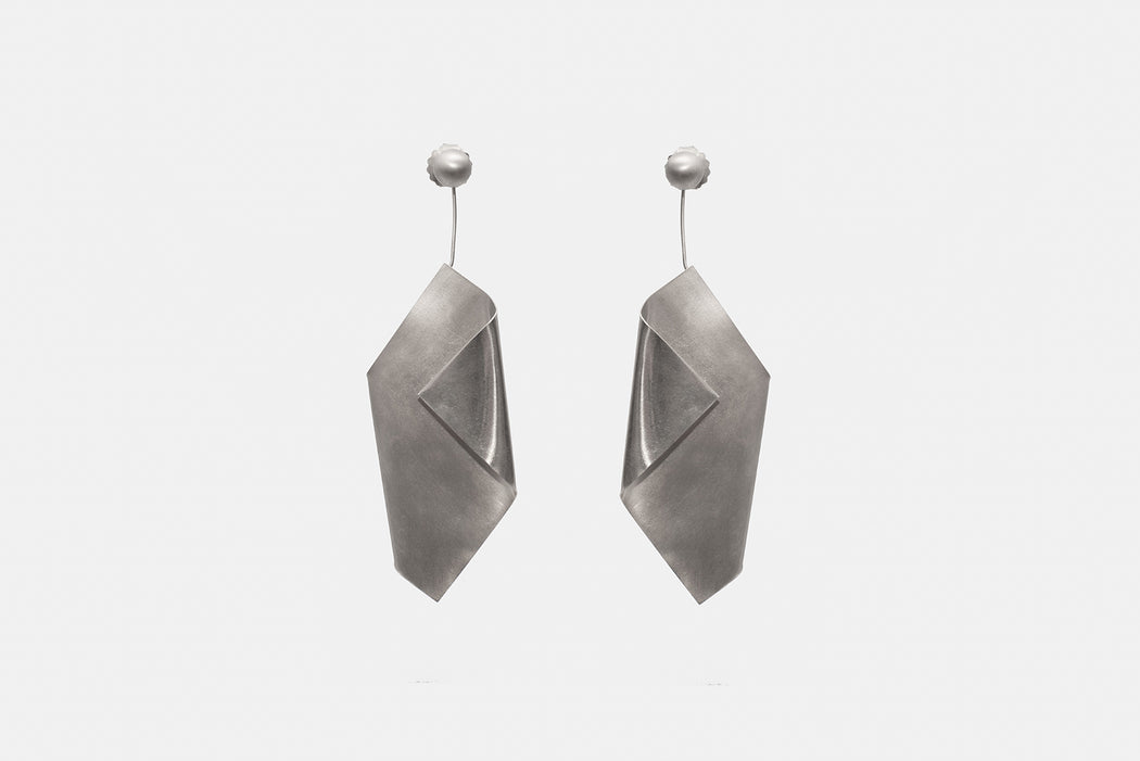 imperfect leaf earrings