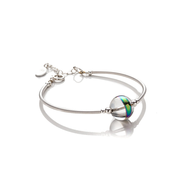 Kelly Marie Jewellery Design - Hand Wrapped Bangle Style Crystal Orb Bracelet