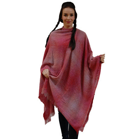 The rose check Celtic Ruana in poncho style makes a unique gift for her