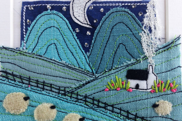 Karen Pleass Textile Art: Irish Landscape Textile Art Mount