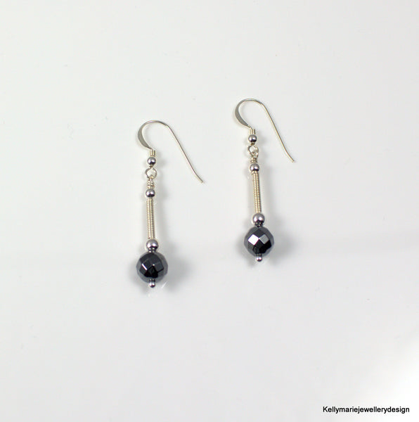 Kelly Marie Jewellery Design - Hematite Drop Earrings