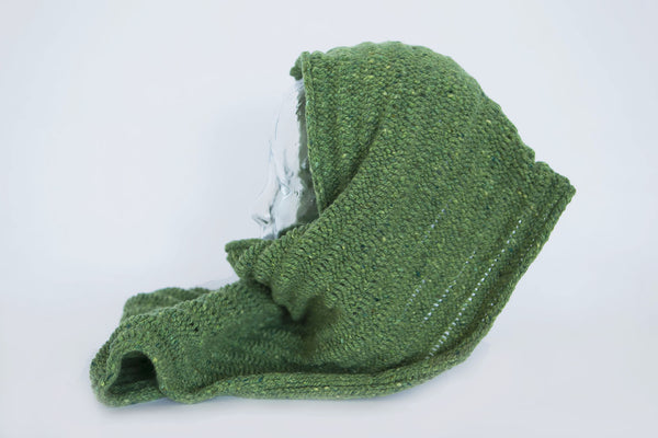 Made 4 U Knitwear Design Green Knitted Wrap Scarf