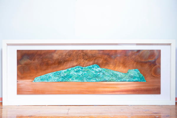 "Ken Bolger Stone and Copper Artist:  ""Sleeping Giant"" (Inis Tuaisceart) Large Copper Frame"