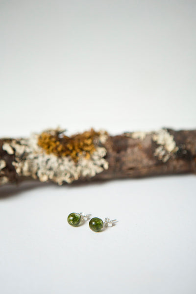 Breeda Hughes Jewellery - Moss Resin Stud earrings