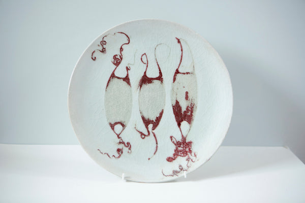 Colleen Bowler Ceramics:  Mermaids Purse Plate
