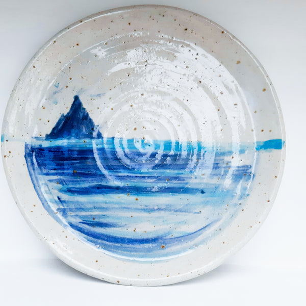 Skellig Pottery: Hand painted Skellig Michael Plate