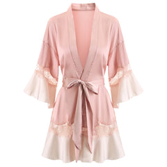 Leonida satin robe
