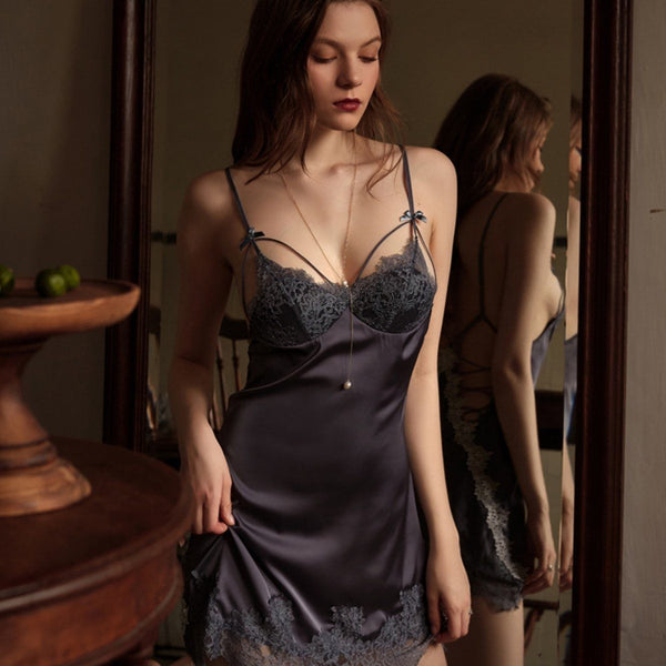 Ari satin slip Intimates LOVEFREYA S Grey