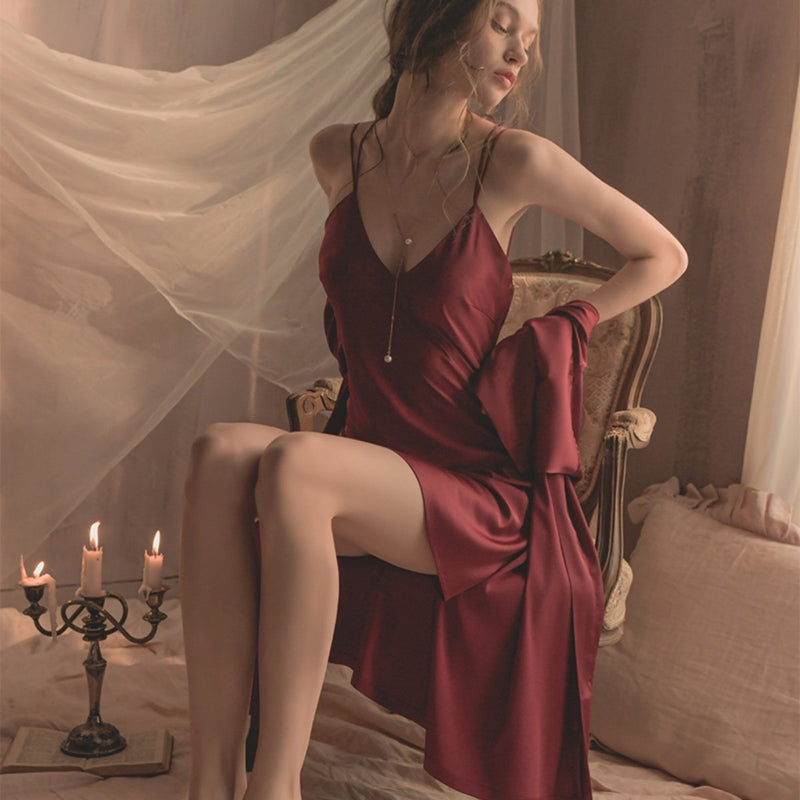 Ariel satin slip Intimates LOVEFREYA S Wine